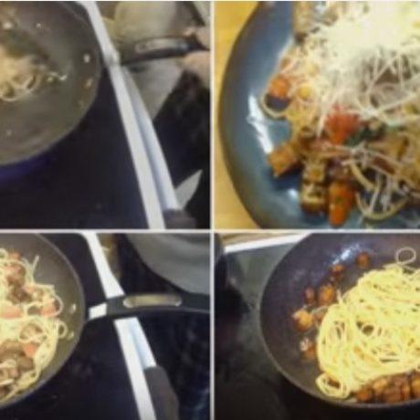 Tomato Basil and Garlic Pasta- Like Noodles & Company with Tofu!