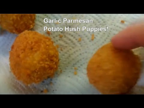 Garlic Parmesan Potato Hush Puppies or Potato Croquettes
